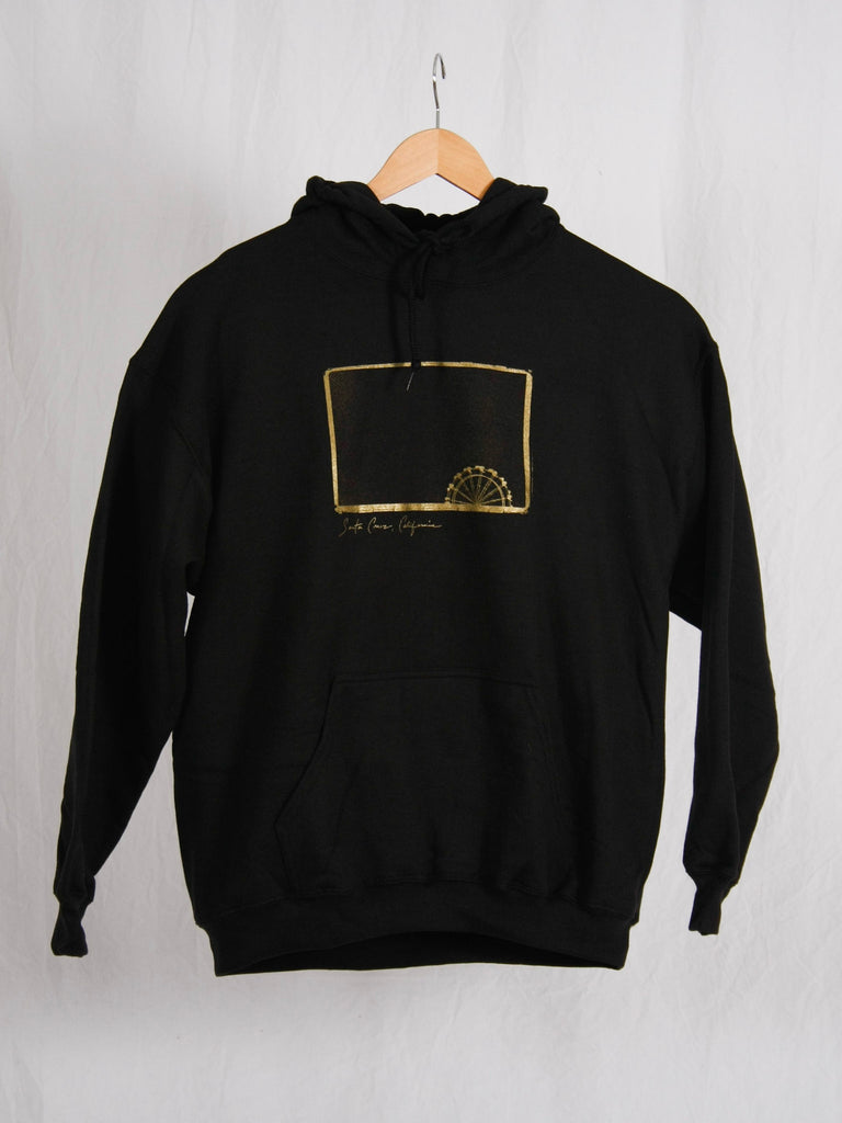 Peter Saporito Ferris Wheel Pullover Hoodie Black + Gold