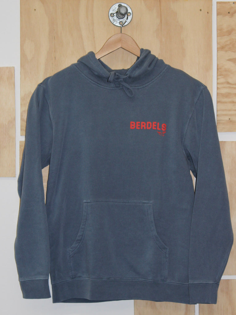 Rainbow Berd Hooded Pullover Sweatshirt Slate