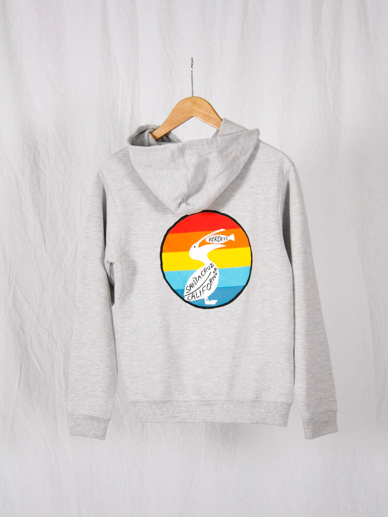 Berdels Kid's Rainbow Berd Pullover Sweatshirt Heather Grey
