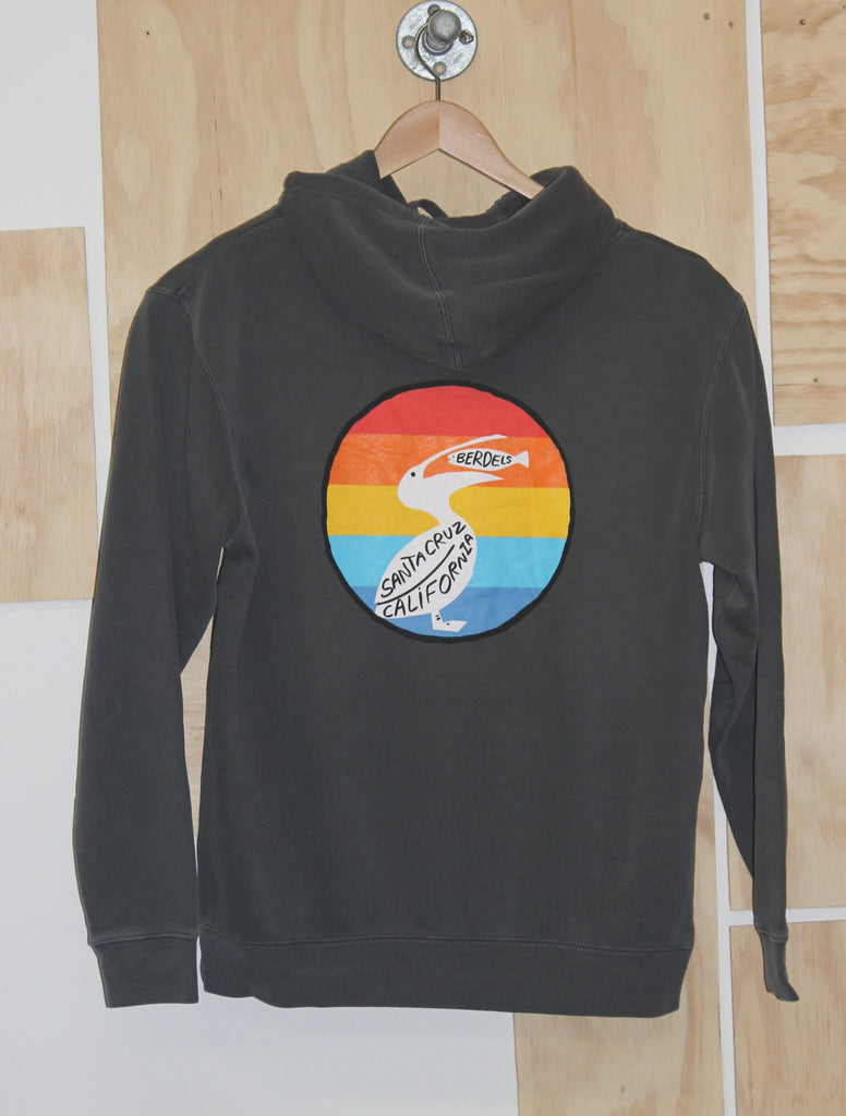 Rainbow Berd Hooded Pullover Sweatshirt Black