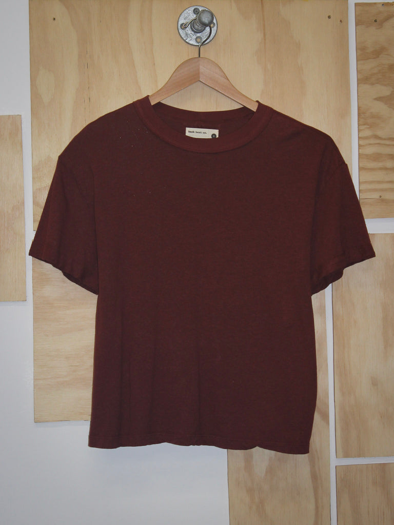 Back Beat Co Tomboy Hemp Tee Redwood