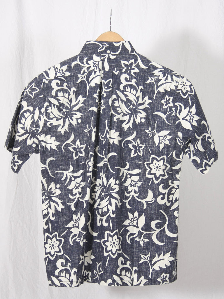 Reyn Spooner Pareau Royale Button Up Shirt Navy