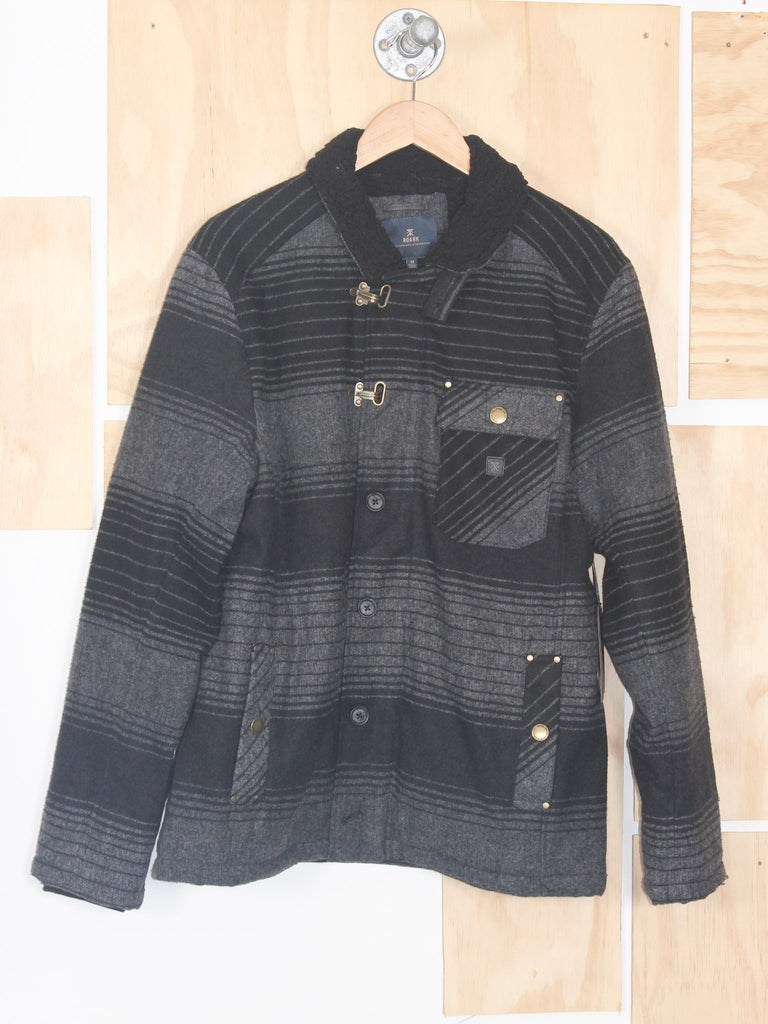 Roark Axeman Charcoal Stripe Wool