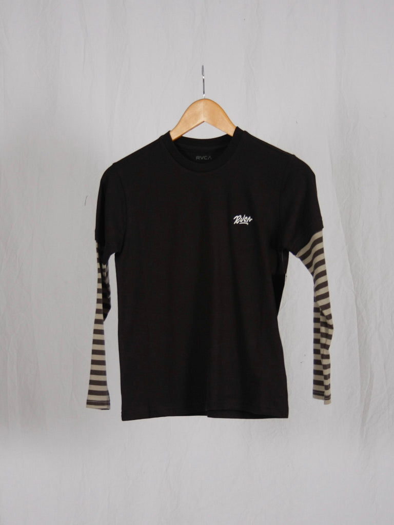 RVCA Adored Stripe 2fer Long Sleeve Tee