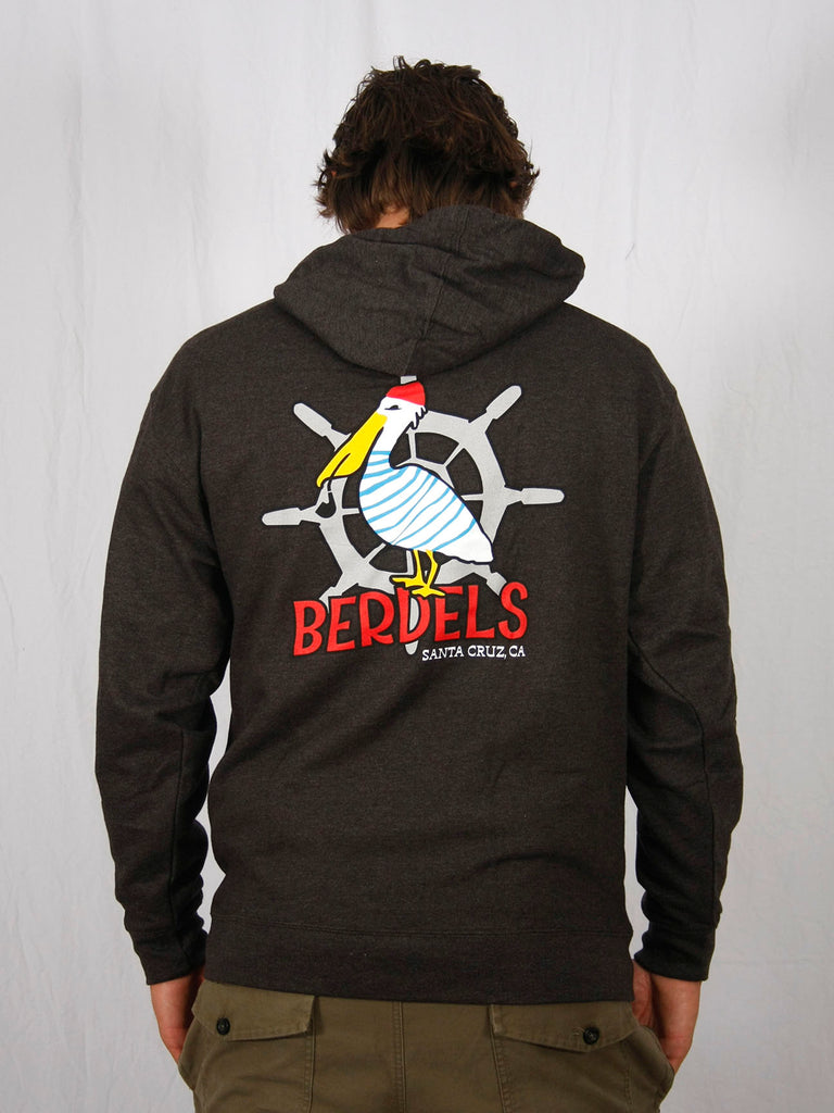 Sailor Berd Pullover Hooded Sweatshirt Heather Charcoal