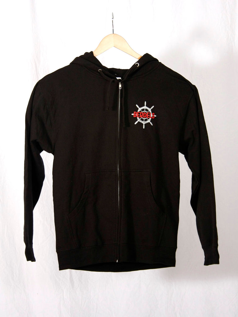 Sailor Berd Zip Hoodie Sweatshirt Black