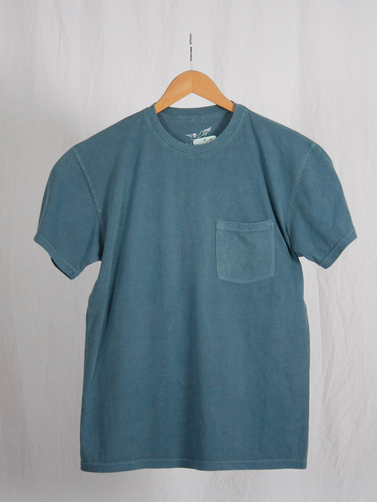 Berdels Men's Sea Breeze Short Sleeve Pocket Tee Blue Jean