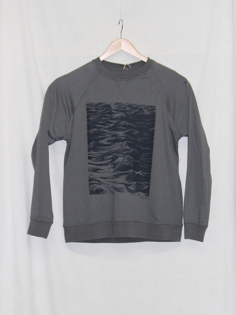 Uroko Seaside French Terry Crewneck Heavy Metal