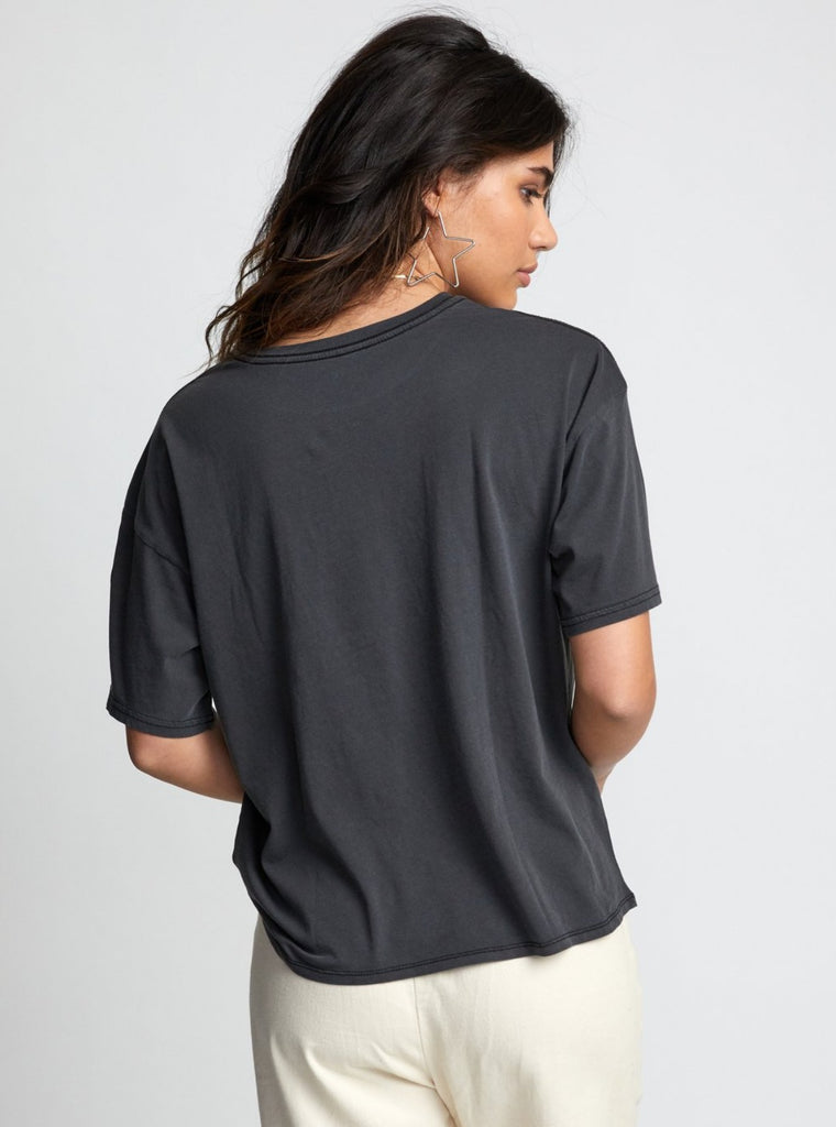RVCA Serpent Tee Washed Black