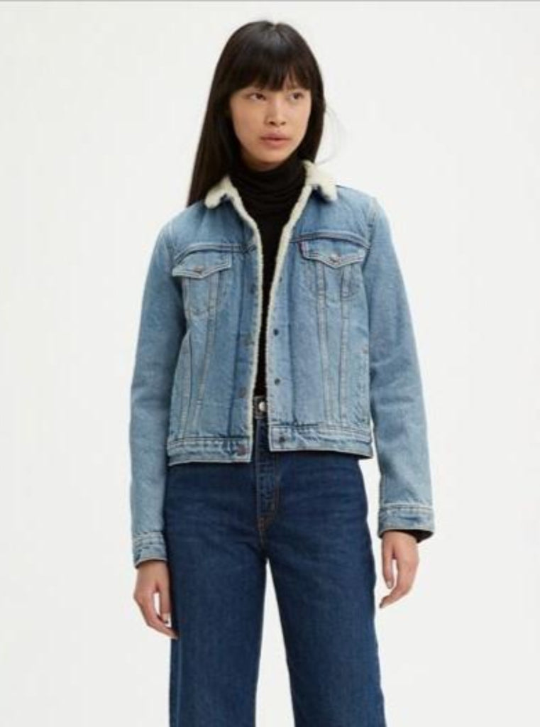 Levi's Original Sherpa Denim Trucker Divided Blue