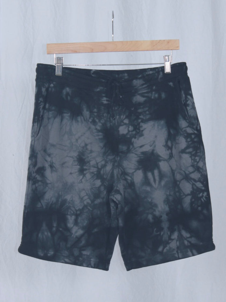 Berdels Big Belly Lounger Sweatshorts Tie Dye Black