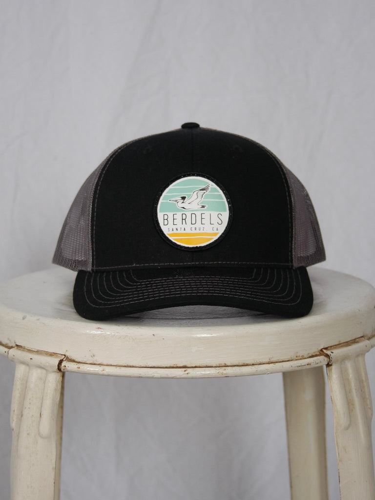 Berdels Sky to Sand Trucker Hat Loden Black + Charcoal