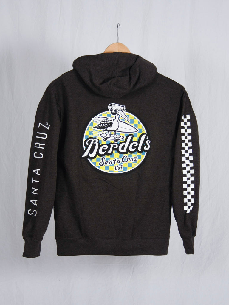 Spicoli Checker Pullover Hooded Sweatshirt Heather Charcoal