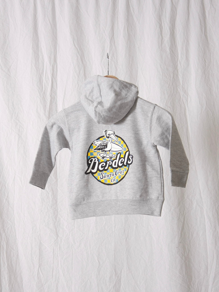Berdels Spicoli Zip Toddler Zip Up Sweatshirt Heather Gray