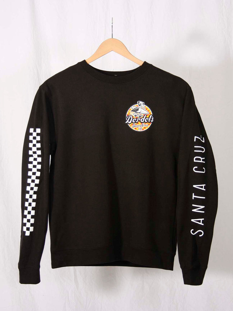 Spicoli Checker Crewneck Sweatshirt Black