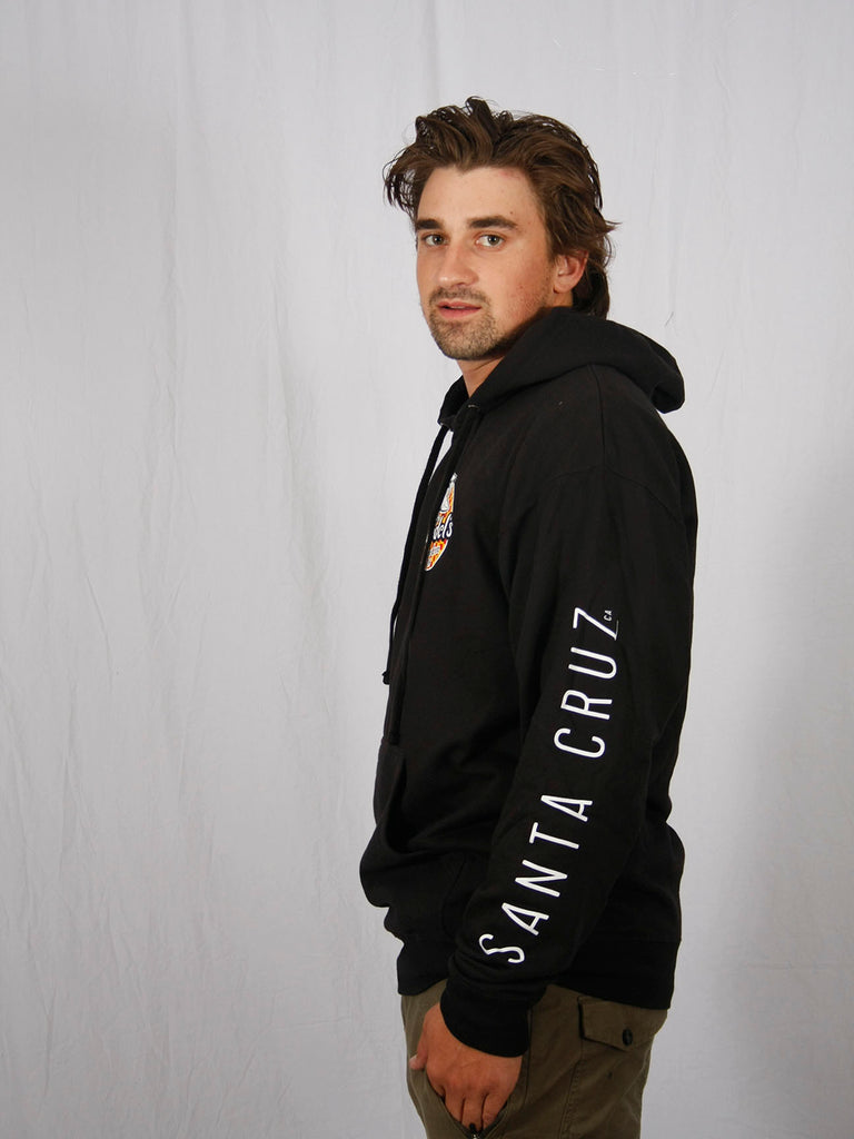 Spicoli Checker Pullover Hooded Sweatshirt Black