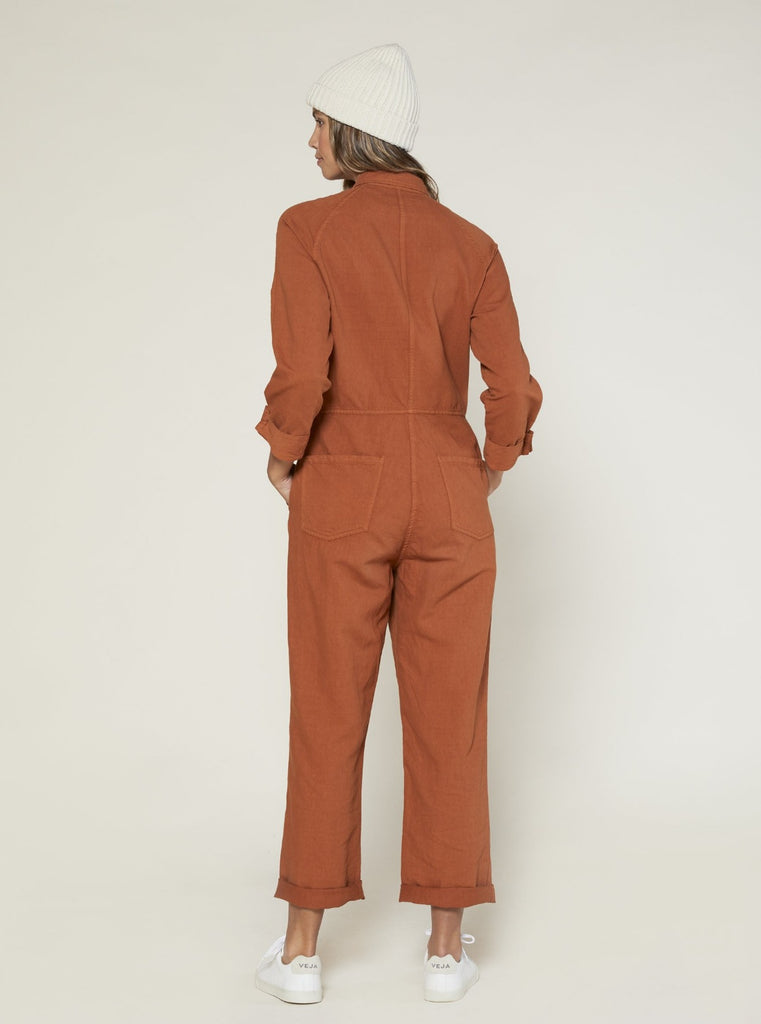 Outerknown Station Jumpsuit Cedar