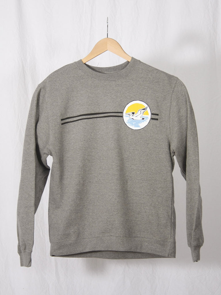 Sunset Circle Crewneck Sweatshirt Athletic Heather Grey