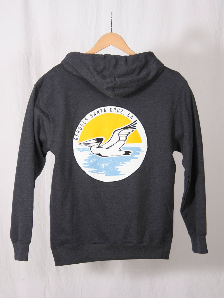 Sunset Circle Pullover Hooded Sweatshirt Heather Navy