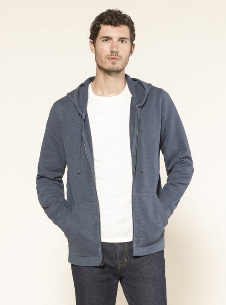 Outerknown Sur Hooded Zip Sweatshirt Deep Blue
