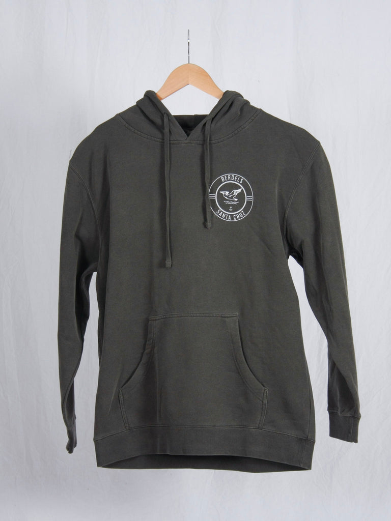 Berdels Surf Club Hooded Pullover Sweatshirt Pigment Black