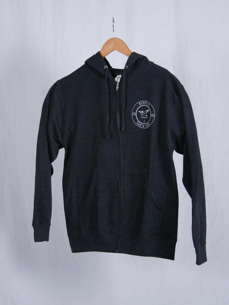 Berdels Surf Club Zip Hoodie Heather Navy