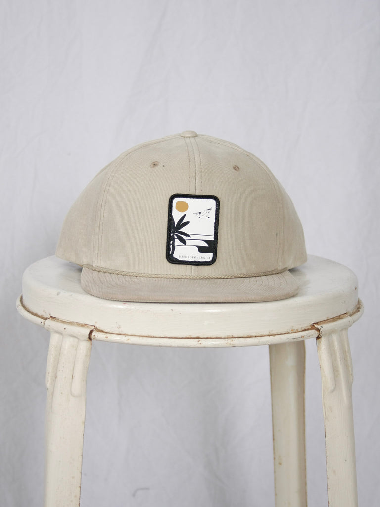 Berdels Aloha Nights Corduroy Trucker Hat Tan