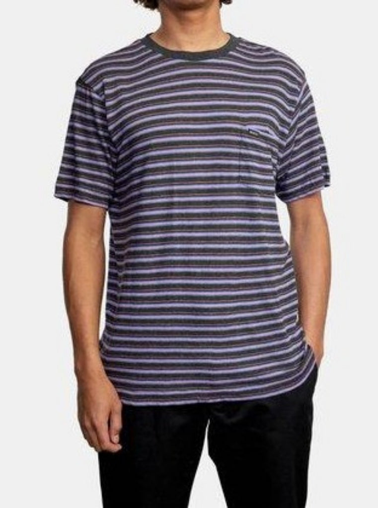 RVCA Toluca Micro Stripe Short Sleeve Shirt Charcoal Heather