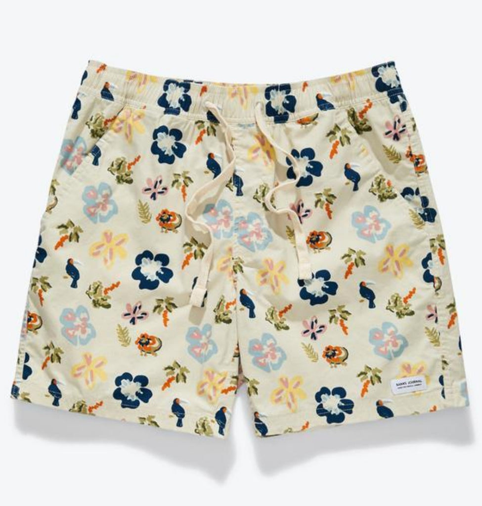 Banks Travels Elastics Boardshort Floral Bone