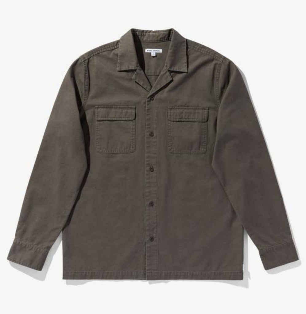 Banks Journal Undisputed Long Sleeve Woven Olive Military