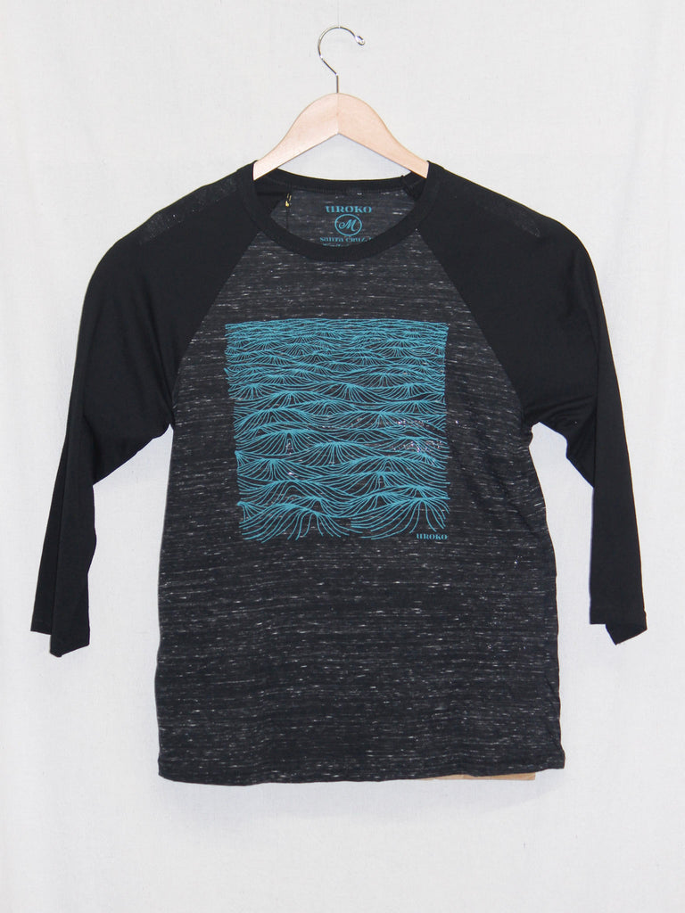 Uroko Swell 3/4 Sleeve Tee Black+Grey