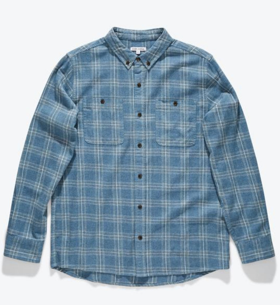 Banks Journal Vanish Long Sleeve Woven Flannel Insignia Blue