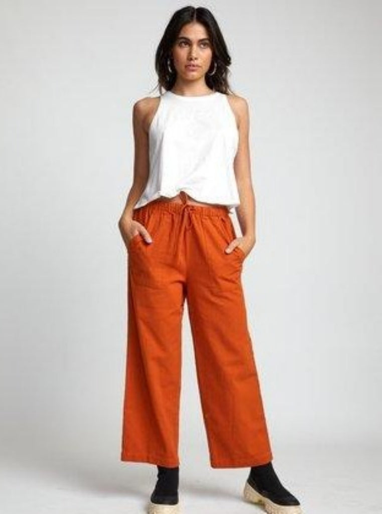 RVCA Palla Pant Dark Orange