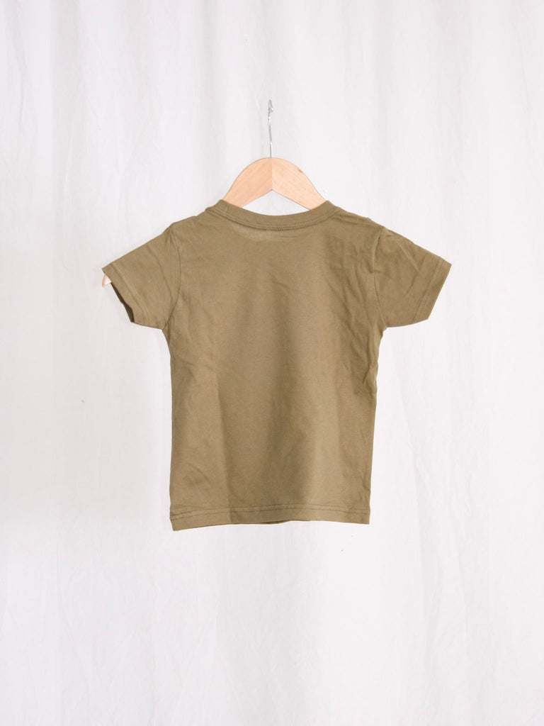 Berdels Whale Toddler Tee Military Green