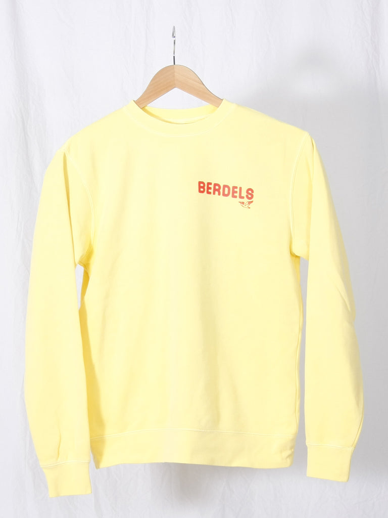 Rainbow Berd Crewneck Sweatshirt Yellow