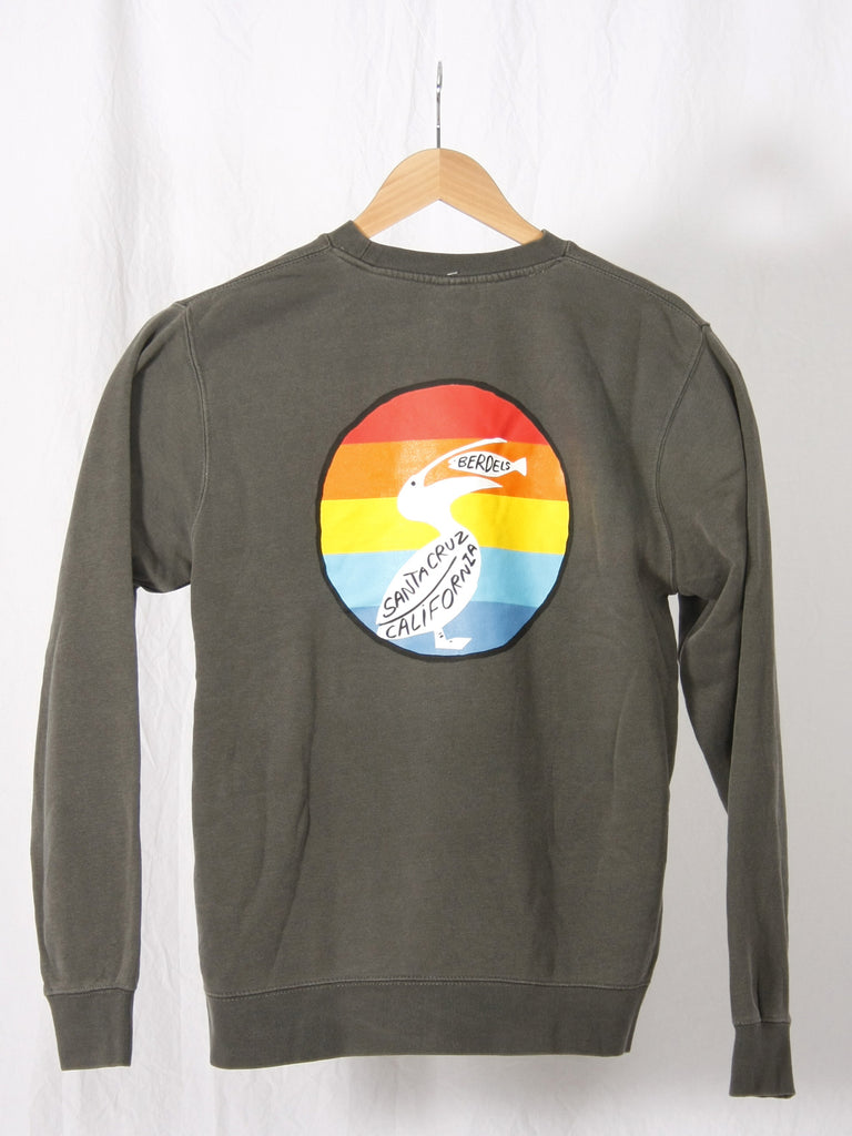 Rainbow Berd Crewneck Sweatshirt Black