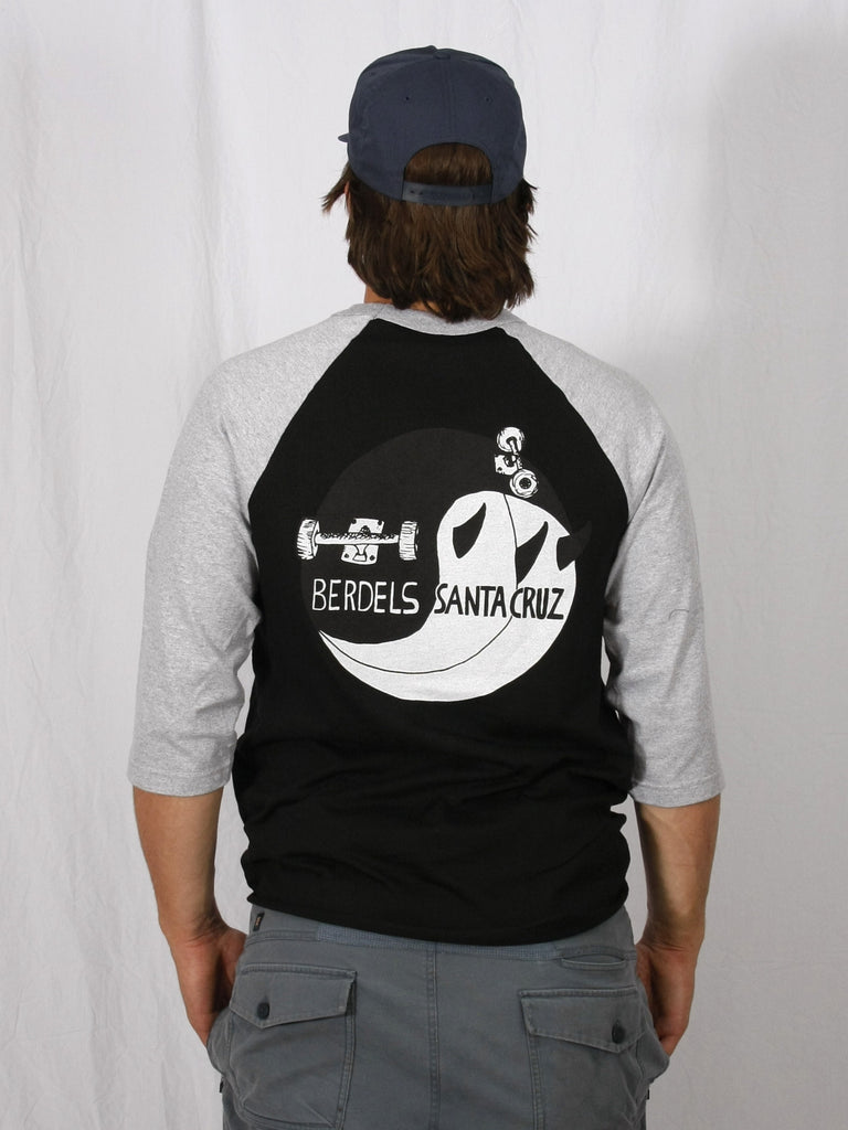 Ying Yang Baseball 3/4 Sleeve Tee Black/Grey