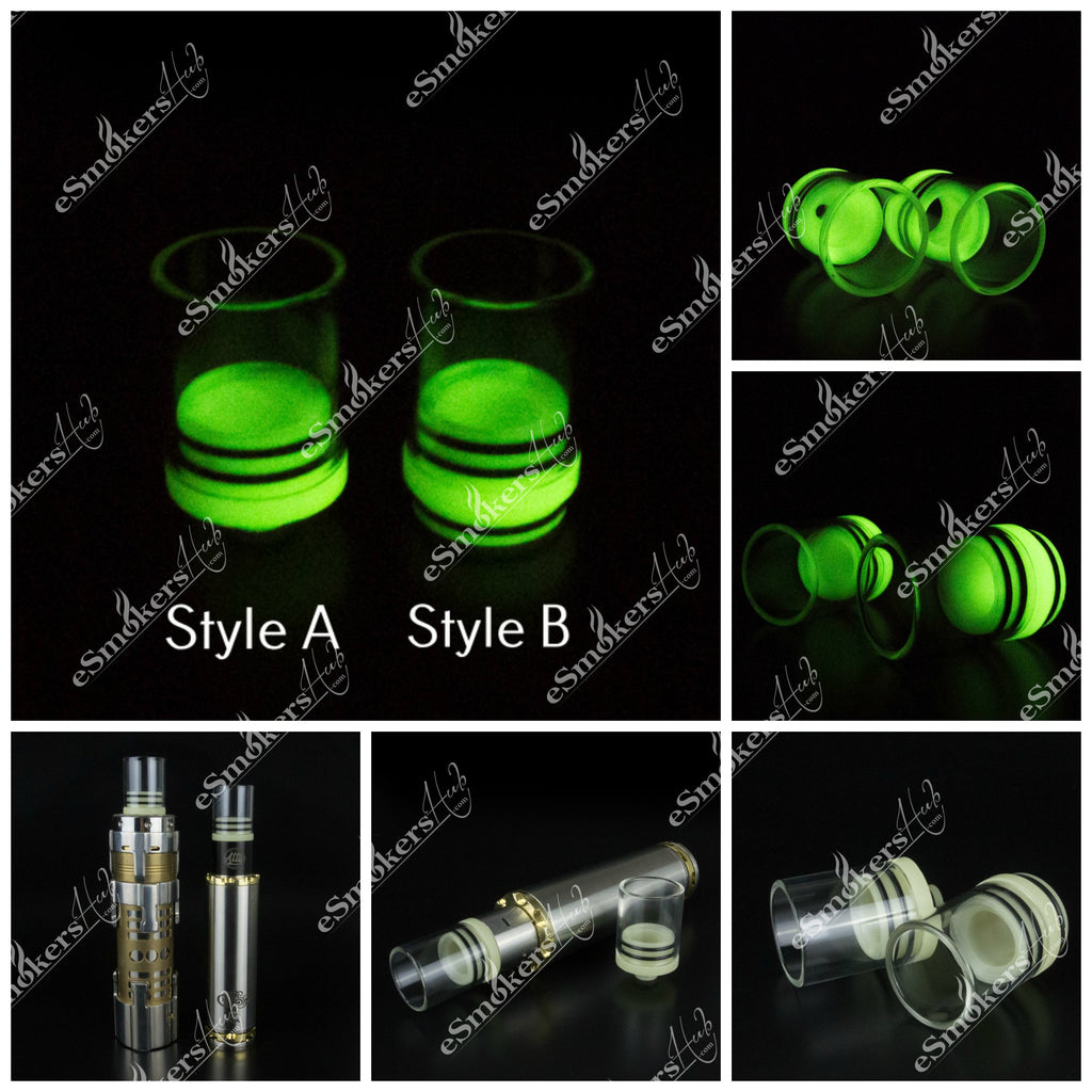 Glow In The Dark 510 Drip Tip - Super Wide Bore or 22 mm RDA Top Cap