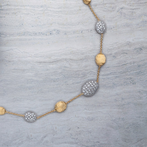 Siviglia Gold and Diamond Pave Necklace