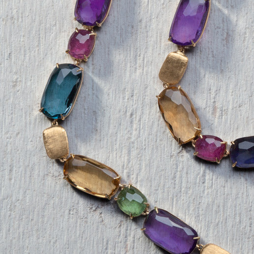 Murano Mixed Stone Necklace