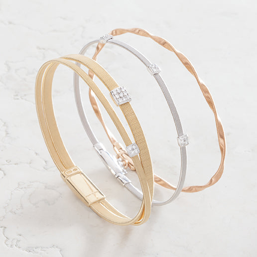 marrakech and masai bracelets marble background