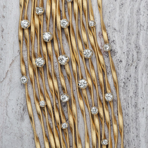 Marrakech Couture Gold & Diamond Fifteen Strand Bangle
