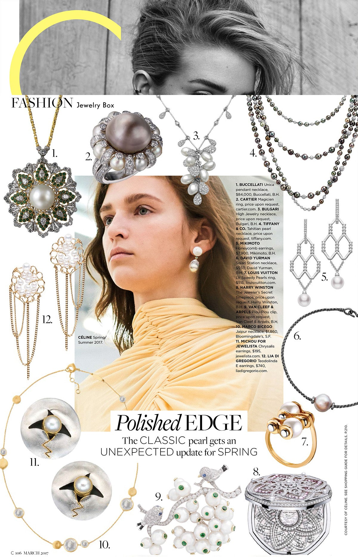 Marco Bicego Jaipur Mother of Pearl Necklace in C-Magazine