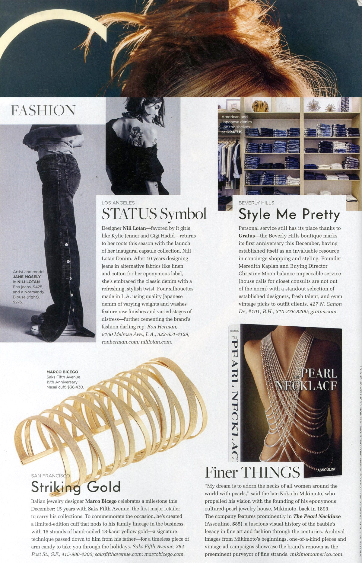 Marco Bicego 15th Anniversary Cuff in C Magazine