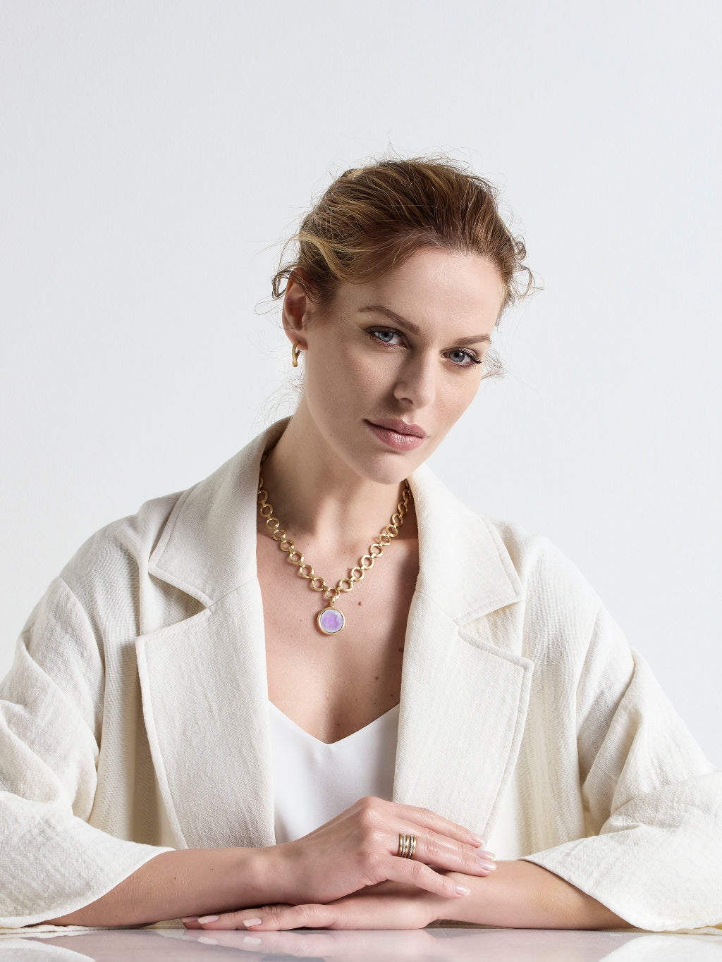 Marco Bicego® Jaipur Collection 18K Yellow Gold Medium Stackable Pendant image 9