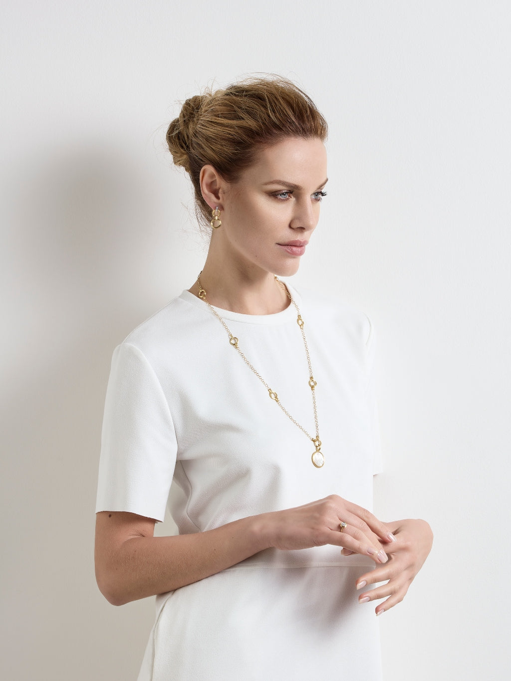 Marco Bicego® Jaipur Collection 18K Yellow Gold Medium Stackable Pendant image 6