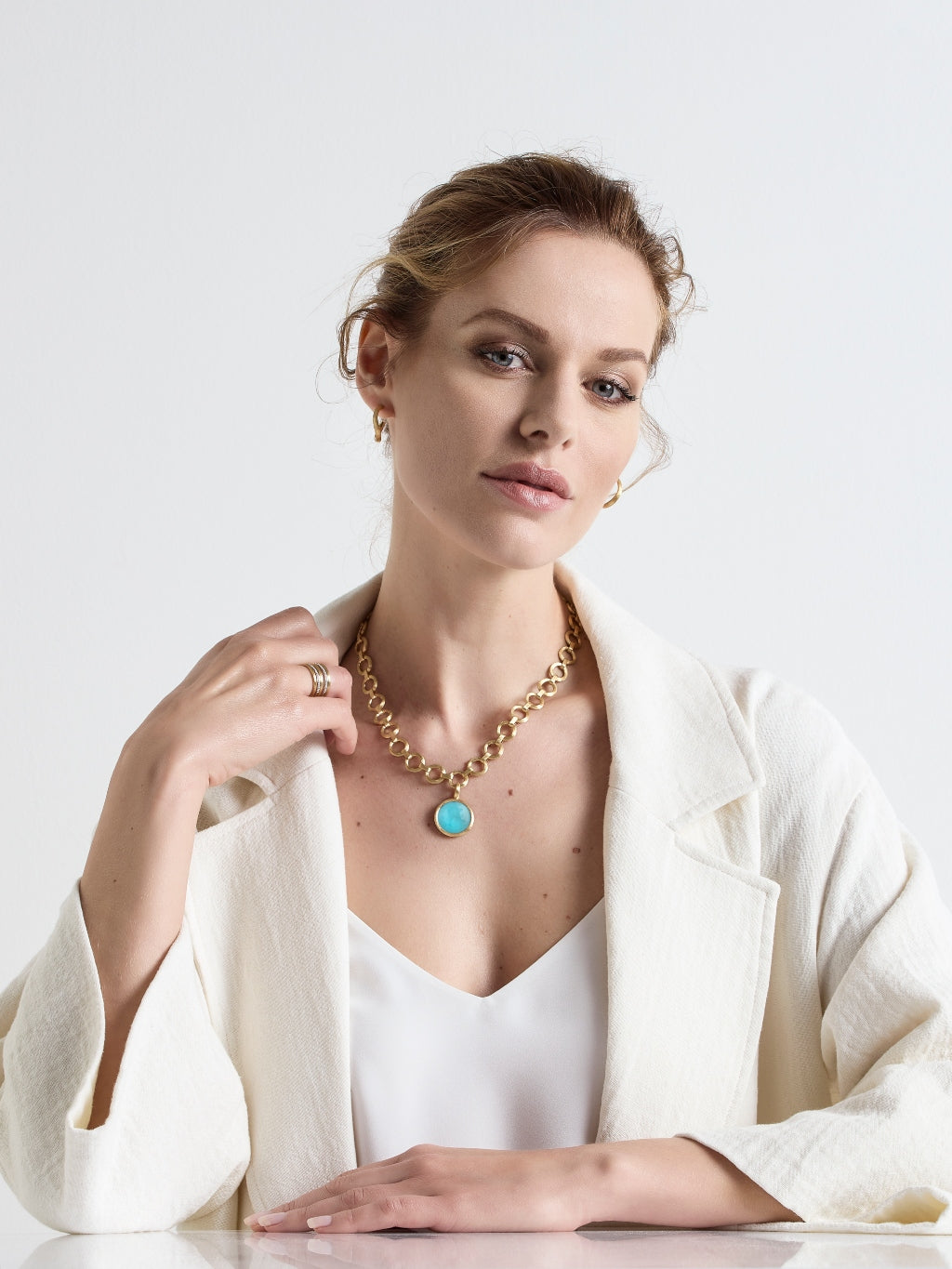 Marco Bicego® Jaipur Collection 18K Yellow Gold Medium Stackable Pendant image 8