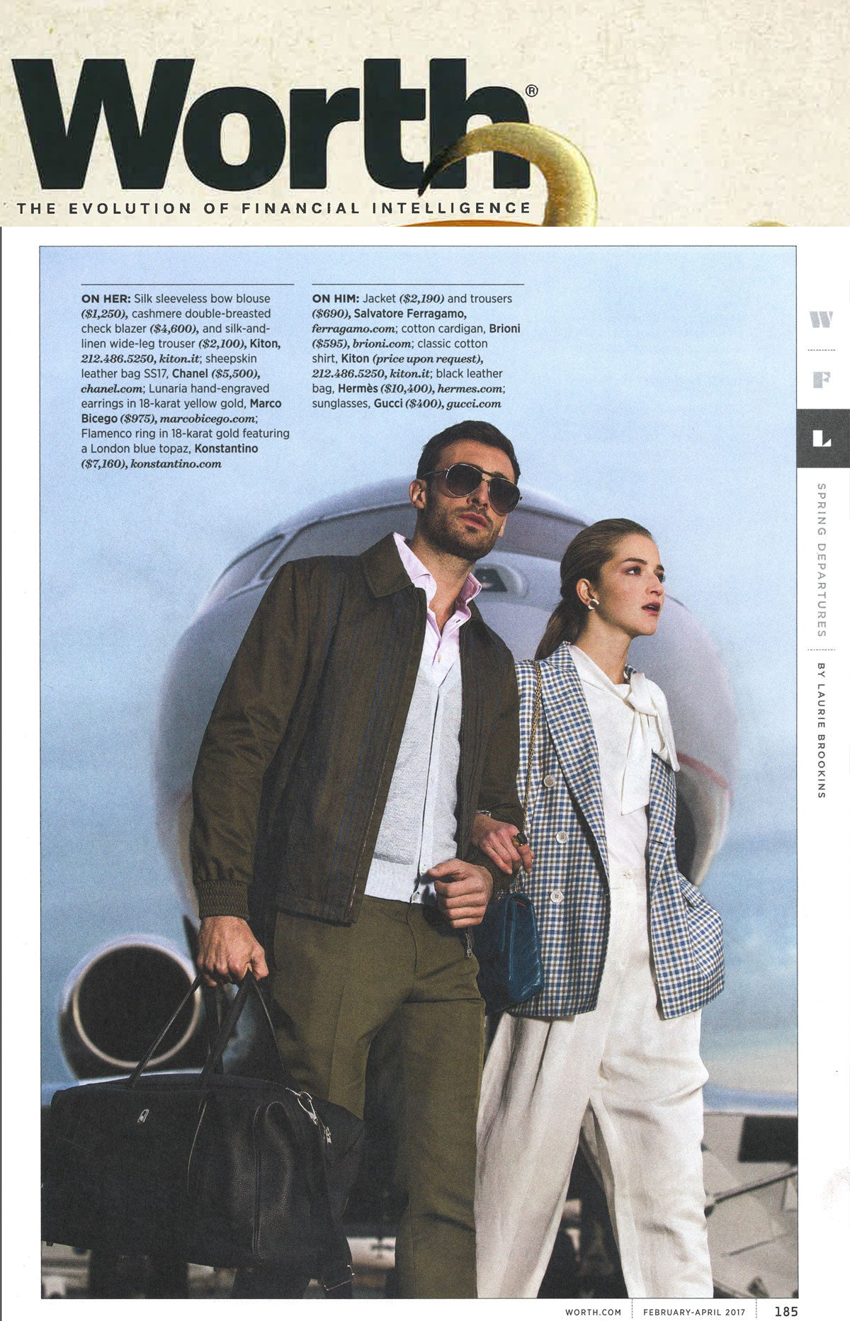 Marco Bicego Lunaria Earrings in Worth Magazine