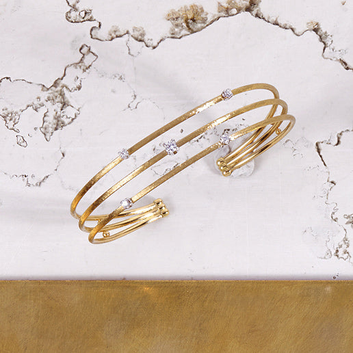 Luce Gold and Diamond Cuff