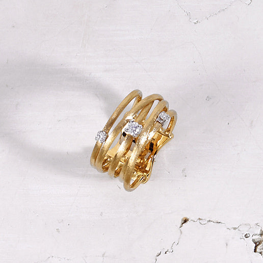 Luce Gold & Diamond Five Strand Crossover Ring